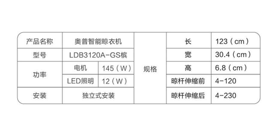 奥普新网站930-465-LDB3120A-GS