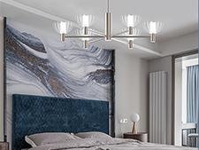 奥普艺术照明 缤纷 卧室吊灯 案例展示-2