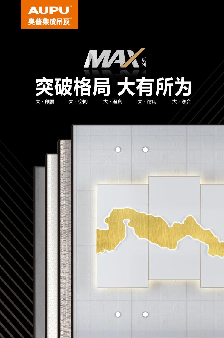 晨皓控股 奥普集成吊顶MAX大板1
